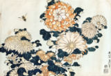 Katsushika Hokusai - Bee and chrysanthemums, from the series 'Big Flowers'