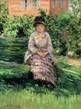 Gustave Caillebotte - Madame Renoir (1860-1915) in the Garden at Petit-Gennevilliers, c.1891