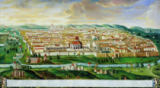 German School - A View of the Walled City of Jerusalem, c.1740