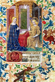 Jean Fouquet - Ms Latin 13305 fol.15 The Annunciation, from 'Heures a l'Usage de Rome', c.1465