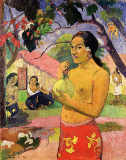 Paul Gauguin - Woman with Mango, 1893