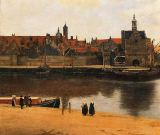 Jan Vermeer van Delft - Detail of View of Delft, c.1660-61