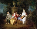 Jean Antoine Watteau - The Foursome, c.1713