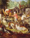 Jan Snellinck - Noah's Ark, detail of the right hand side, after a painting by Jan Brueghel the Elder