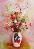 Odilon Redon - Bouquet of Flowers in a Japanese Vase, c.1905-08