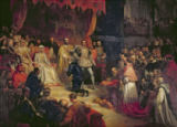Louis Gallait - The Abdication of Charles V (1500-58) 1841