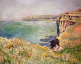 Claude Monet - Cliff at Varengeville, 1882