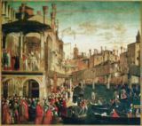 The Miracle of the Relic of the True Cross on the Rialto Bridge, 1494 of Vittore Carpaccio