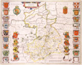 Willem & Blaeu & Joan - Map of Cambridgeshire, published Amsterdam c.1647-48
