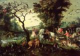 Jan Brueghel der Ältere - The Animals Entering Noah's Ark
