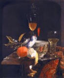 Willem Kalf - Still Life with Chinese Sugar Jar, Glass Goblet and Fruit
