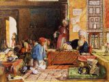 John Frederick Lewis - Interior of a School, Cairo, 1890