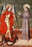 French School - St. Michael and St. Francis of Assisi, c.1480