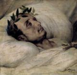 Emile Jean Horace Vernet - Napoleon I (1769-1821) on his Deathbed, 1825