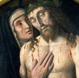 Giovanni Santi - Detail of Lamentation of the Dead Christ