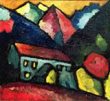 Alexej von Jawlenski - A House in the Mountains, c.1912