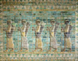 Persian School - Frieze of archers, from the Palace of Darius the Great (548-486 BC) at Susa, Iran, Achaemenid Period, c.500 BC