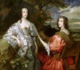 Anthonis van Dyck - Katherine (1609-67) Countess of Chesterfield, and Lucy (b.1608) Countess of Huntingdon, c.1636-40
