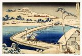 Japanese School - Bridge of Boats at Sawa, 1830, Hokusai Katasushika (1760-1849)