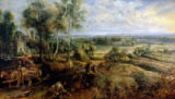 Peter Paul Rubens - An Autumn Landscape with a view of Het Steen in the Early Morning, c.1636