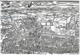 Ralph Agas - Detail of London North of the city from Civitas Londinium