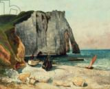Gustave Courbet - The Cliffs of Etretat, the Port of Avale, 1869