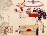 Chinesische Malerei - An archery contest, late 18th century,