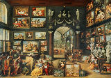 Willem van II Haecht - The Studio of Apelles