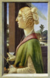 Sandro Botticelli - Portrait of a Young Woman with attributes of St. Catherine, 1475-78
