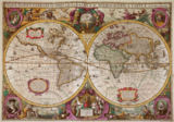 Henricus Hondius - A New Land and Water Map of the Entire Earth, 1630