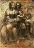 Leonardo da Vinci - The Virgin and Child with SS. Anne and John the Baptist, c.1499