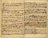 Johann Sebastian Bach - Pages from Score of the 'St. Matthew Passion', 1727