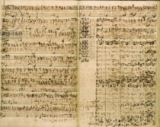 Johann Sebastian Bach - Pages from Score of the 'St Matthew Passion', 1740s