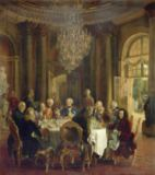 Adolph Friedrich Erdmann von Menzel - Dinner Table at Sanssouci, 1850