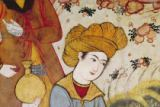 Persian School - Detail of Shah Abbas I (1588-1629) and a Courtier offering fruit and drink