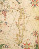 Pietro Giovanni Prunes - The Island of Crete, from a nautical atlas, 1651  (detail from 330925)