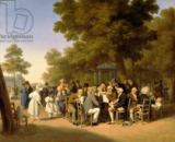Louis-Léopold Boilly - Politicians in the Tuileries Gardens, 1832