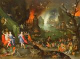 Jan Brueghel der Ältere - Orpheus with a Harp Playing to Pluto and Persephone in the Underworld