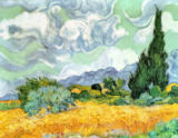 Vincent van Gogh - Wheatfield with Cypresses, 1889