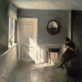 Peter Vilhelm Ilsted - Girl Reading a Letter in an Interior, 1908
