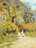 Helen Allingham - A cottage near Crewkerne