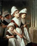 Sophie Anderson - Foundling Girls at Prayer in the Chapel, c.1877
