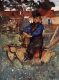 Nico Jungman - A Boy of Veere Astride a Rocking Horse, 1904