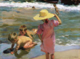 Joaquin Sorolla y Bastida - Children on the seashore, 1903