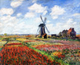 Claude Monet - Tulip Fields with the Rijnsburg Windmill, 1886