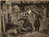 Beltrand & E. Dete & Clair-Guyot - A street in Whitechapel: the last crime of Jack the Ripper, from 'Le Petit Parisien', 1891
