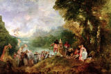Jean Antoine Watteau - Embarkation for Cythera, 1717
