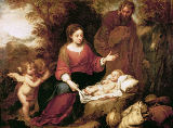 Bartholomé Estéban Murillo - The Rest on the Flight into Egypt