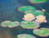 Claude Monet - Waterlilies, Evening; detail