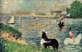 Georges Pierre Seurat - Horses in a River, c.1883